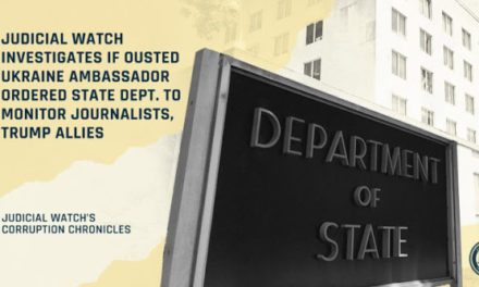 JW INVESTIGATES IF OUSTED UKRAINE AMBASSADOR ORDERED STATE DEPT. TO MONITOR JOURNALISTS, TRUMP ALLIES