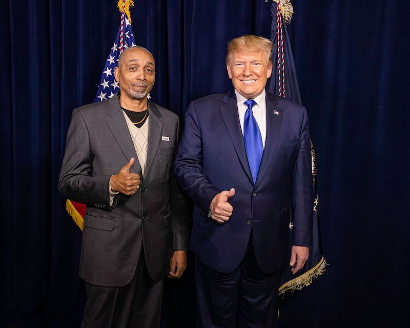 Clarence Mason Weaver with Trump