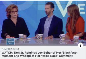 Behar Denies Blackface Incident During Trump, Jr. Interview