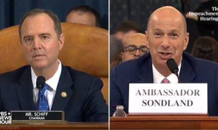 Schiff: La La La La La I'm not listening to Sondland